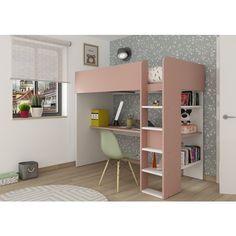 Buy the Trasman Tarragona High Sleeper Bed today! Room Design Bedroom, Small Room Bedroom, Home Room Design, Bedroom Decor, High Sleeper Bed, Bunk Bed With Desk, Loft Bed Desk, High Beds, Bunk Bed Designs