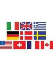 Mini International Flag Cutouts 10ct  Party City