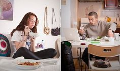 Intimate photographs reveal how busy New Yorkers eat dinner #DailyMail