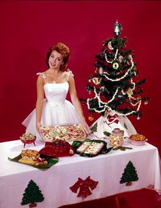 Christmas spread with host Annette Funicello