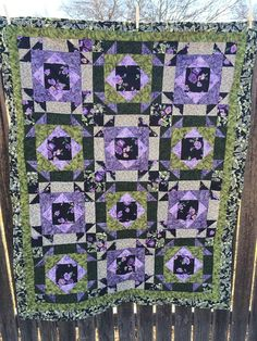 Lap Quilt Geometric shapes Individually by Heathersquaintquilts, $175.00
