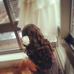 Beautiful wedding day hair idea {Hair by Zuleika Acosta}
