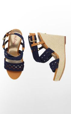 Lilly Pulitzer Summer '13- Kelsey Wedge in True Navy