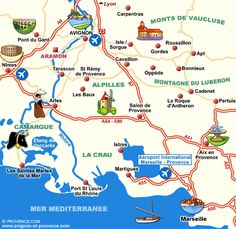 Places to see in Provence, France.