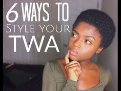 6 Cute Ways to Style Your natural TWA 3c 4a 4b & 4c friendly [Video] - Black Hair Information                                                                                                                                                                                 More