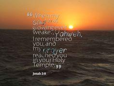 Jonah 2:8 Prophet Jonah, Prayers, Beach, Water, Outdoor, Gripe Water, Outdoors, The Beach, Prayer