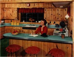 Knotty Pine Kitchen by Formica 1953