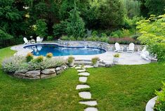 Oasis Pool with Custom Landscaping in Columbia MD Free-Form Pool Custom Deck Maryland Oasis Pools Landscaping Around Pool, Swimming Pool Landscaping, Privacy Landscaping, Swimming Pool Designs, Hydrangea Landscaping, Driveway Landscaping, Landscaping Design, Columbia, Oasis Pool