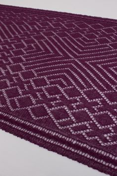 Steve Rousseau Designs • Enzo Rectangular Shawl • Knitting Pattern • Shibui Knits Pebble Imperial