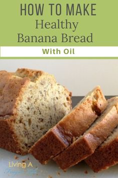 Find out how to make this classic banana bread recipe with oil. This is the ultmate moist banana bread recipe. It is made with no butter and is dairy free. Banana Bread Recipe Made With Oil, No Butter Banana Bread, Best Healthy Banana Bread Recipe, Moist Banana Bread, Banana Bread Recipes, Cheap Meal Plans, Cheap Easy Meals, Healthy Recipes On A Budget, Frugal Recipes