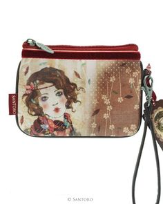 Wrist Purse - Souvenir d'Hiver, Santoro's Willow