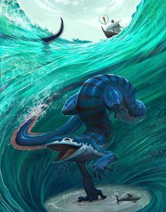 deviantart farkwhad monster sea by on Sea Monster by Farkwhad on DeviantArtYou can find Sea monsters and more on our website Monster Concept Art, Fantasy Monster, Monster Art, Mythical Creatures Art, Mythological Creatures, Magical Creatures, Creature Concept Art, Creature Design, Fantasy Beasts