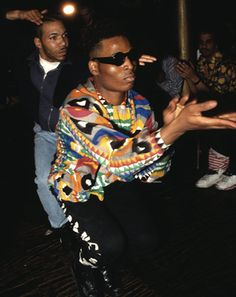 Credit: Chantal Regnault/Courtesy of Soul Jazz Books A voguing ball in action at the Xtravaganza War Ball, 1990. This particular move, the '...