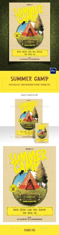 Summer Camp Flyer Template Flyer template, Camping and Flyer - summer camp flyer template