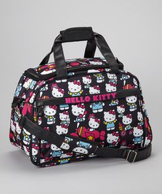Take a look at this Black Hello Kitty Travel Bag by Hello Kitty on #zulily today!