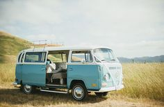VW Bus to shuttle guests to the ceremony site
