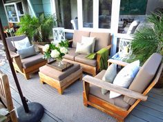 COCOCOZY Deck Make Under.  Undecorating an outdoor living room.  New makeover