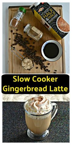 Slow Cooker Gingerbread Latte - Hezzi-D's Books and Cooks Easy Drink Recipes, Coffee Recipes, Delicious Recipes, Amazing Recipes, Brunch Recipes, Gingerbread Recipes, Slow Cooker Recipes, Crockpot Recipes