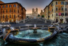 The Spanish Steps in Rome by Tracey Taylor
