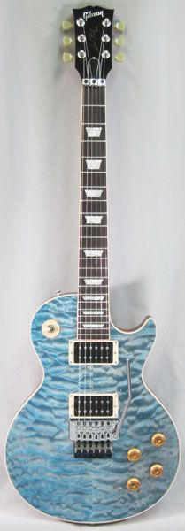 CUSTOM SHOP Custom Collection Les Paul Axcess Standard 5A Grade Quilt Top with Floyd Rose/Aqua Blue
