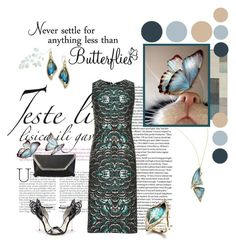 Butterfly by shape-shifter on Polyvore featuring polyvore, fashion, style, Tome, Sophia Webster, Alexis Bittar, Surya, Piel Leather, WALL, clothing, sophiawebster, Toscannia and AlexisBittarNY
