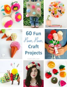Like pom poms? Check out these diy craft projects http://www.coolcrafts.com/pom-pom-crafts/