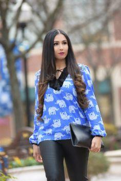tops for winter-tops for women-pretty tops-blusas de manga larga-elephant print-elefanes-blusa con elefantes-velvet top-blusas de mujer-ootd-blusas lindas-look casual