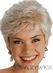 100% Human Hair Blonde Full Lace Wavy Short Wigs 6 Inch