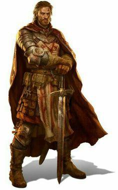 m Fighter Hvy Armor Cloak Sword midlvl