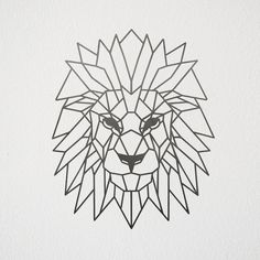 Geometric Lion Wall Art #Wallart #Metalart #Lion #HomeDecor #Geometric #Animal #LionKing #Etsy
