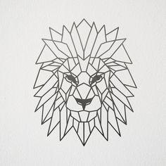 Geometric Lion Wall Art #Wallart #Metalart #Lion #HomeDecor #Geometric #Animal #LionKing #Etsy