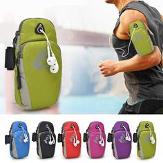 $6.24 FREEKNIGHT Nylon Sport Arm Bags Gym Running Jogging Cycling Hiking Portable Wrist Kit Pack