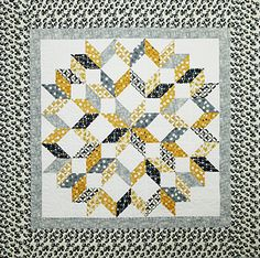 """- Rippling Star Download - Calico Carriage Quilt Designs ® by Debbie Maddy featuring the No Diamonds / No """"Y"""" Seams technique."""