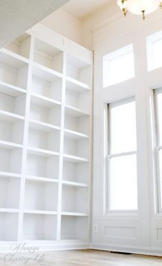 Image Result For Billy Pax Perpendicular Walls Tall White Bookcase Wall Bookshelves White Bookshelves