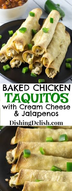 Baked Chicken Taquit