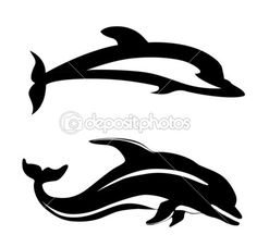 Dolphins Silhouettes Tattoos