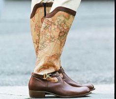 Alviero Martini's map boots. #maps #shoes