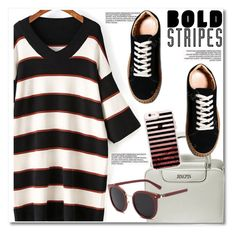 Big, bold stripes by paculi on Polyvore featuring Casetify, StreetStyle, casual, preppy and BoldStripes