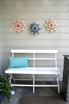 Cheap and fun decorating. I made one of these for our bookshelf and loved it! A few weeks later I wanted a different color so I simply made a new one with different scrapbook paper. Fun!