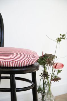 Interior, cushions, pillow, livingroom, pude, danish design, design, personal style, Jore, Jore Copenhagen, stripes.