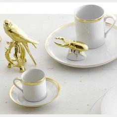 BESTECKLISTE   Reichenbach Porzellan Colour Goldrand