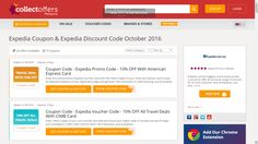 Coupon Code - #Expedia Promo Code - 10% OFF With American Express Card Enter this extraordinary Expedia voucher code with the initial 6 digits of your #American Express Card issued by Maybank Malaysia on the registration page and get level 10% markdown on hotel booking. Just at Expedia #malaysia #collectoffers http://my.collectoffers.com/Expedia