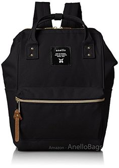 Japan Anello Backpack Unisex MINI SMALL BLACK Rucksack Waterproof Canvas Campus Bag