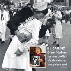 #Sabiasque la famosa enfermera de la fotografía de Times Square era en realidad una auxiliar de dentista? #WWII