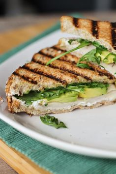 Turkey, Avocado, Goat Cheese, & Arugula Panini