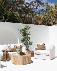 Exterior Design, Home Interior Design, Interior And Exterior, Outdoor Spaces, Outdoor Living, Outdoor Decor, Outdoor Sofa, Balkon Design, Diy Décoration