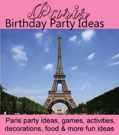 Paris Birthday Party Theme For Kids Fun Ideas For Paris