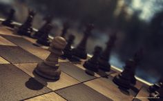 Chess in the wood - This was made in Cinema 4D and Photoshop