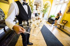 Champagne being served at Capesthorne Hall last week | MAYhem | Stones Events | Drinks