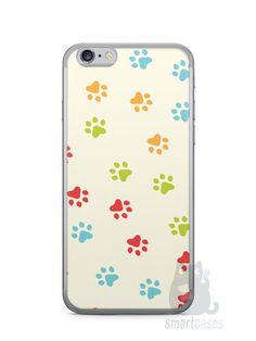 Capa Iphone 6/S Patinhas Coloridas #2 - SmartCases - Acessórios para celulares e tablets :)